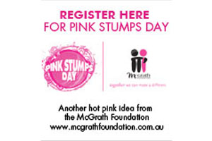 Pink Stumps Day 2013