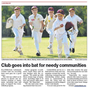 Leader Newspaper - LCC + Cricket4Kids