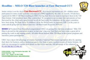 EBCC MILO T20BLAST