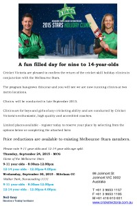 melb starts holiday clinic