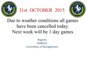 cricket cancelled