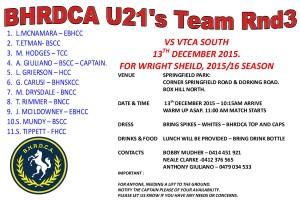 T20 U21 RND 3 SHEPLEY OVAL