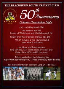BSCC 50th anniversary dinner